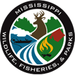 State of Mississippi wildlife, fisheries, and parks badge