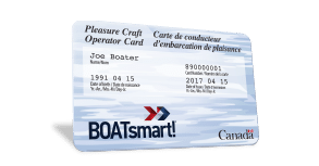 An angled boatsmart card