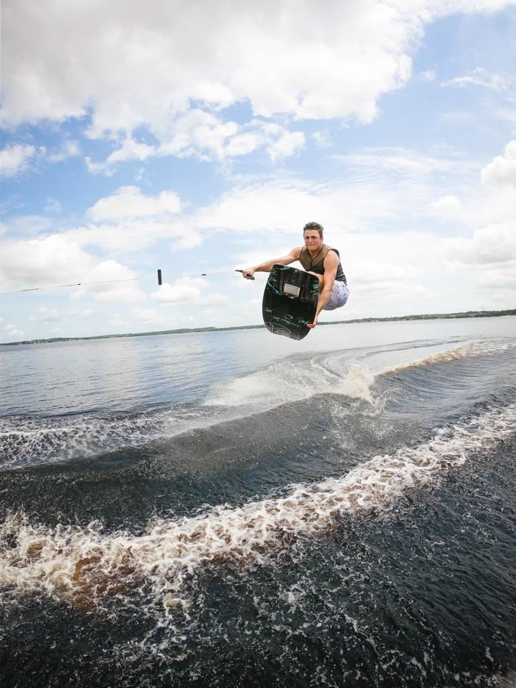 Picture of man wakeboarding