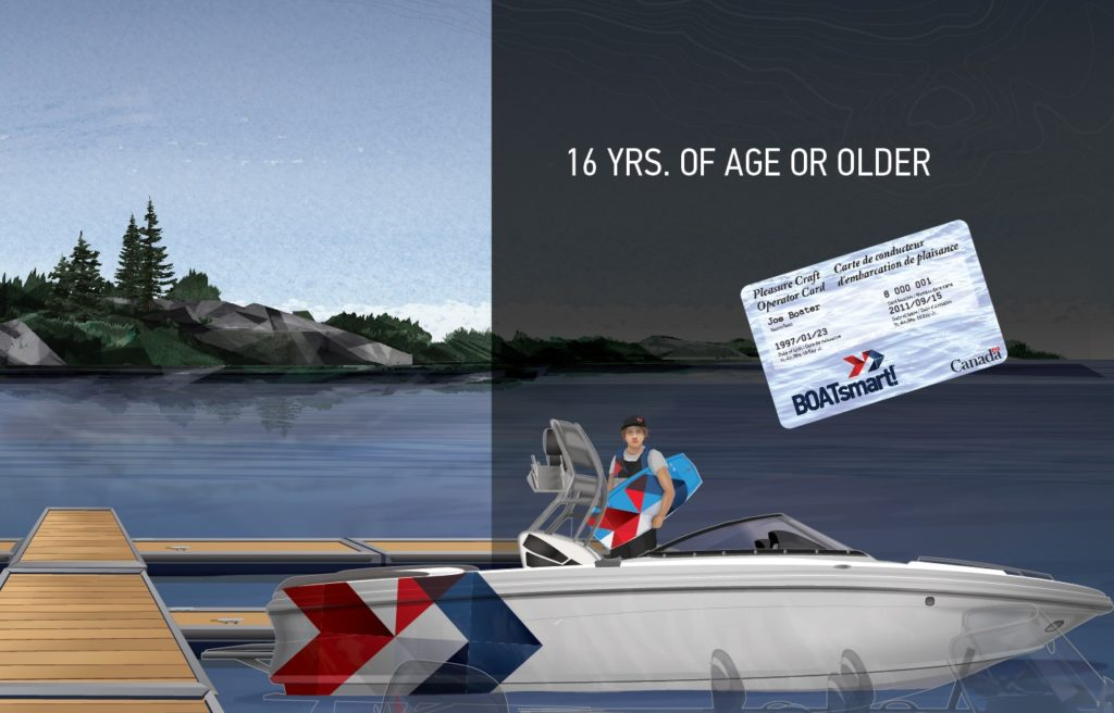 age and horsepower restrictions for boaters aged 16 and older