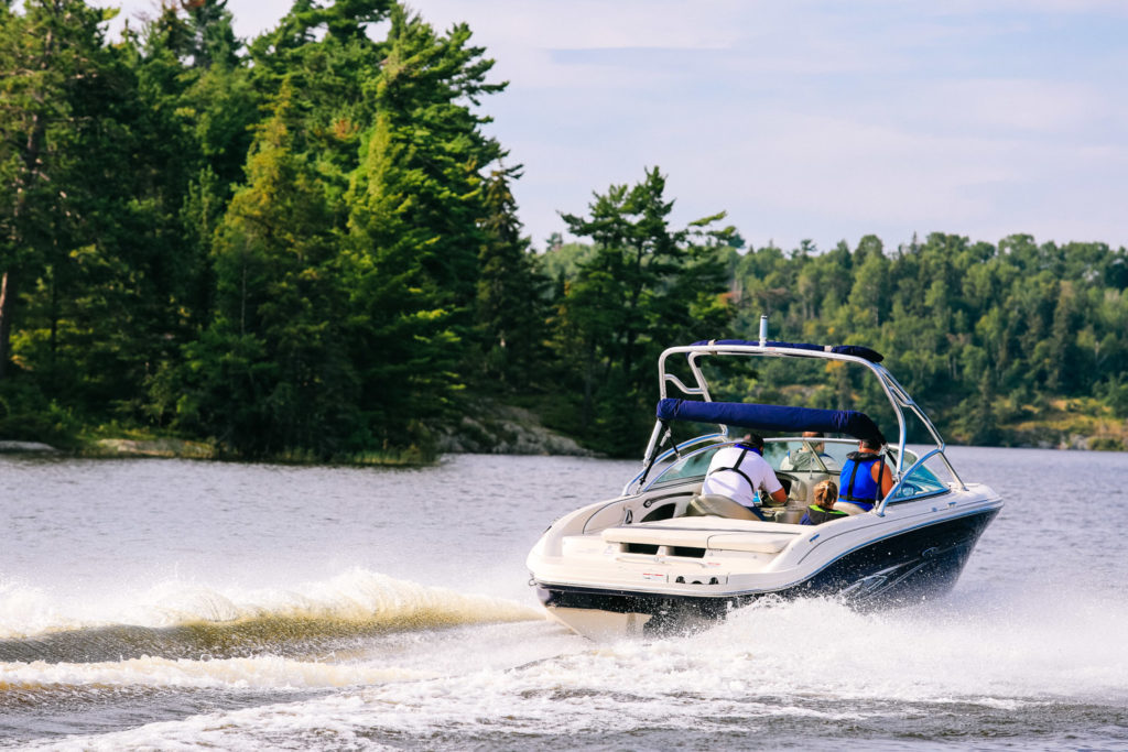 Family boating during COVID 19