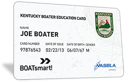 Kentucky Boater Education Card
