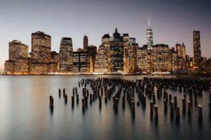 Picture of New York skyline illustrating New York's waterways