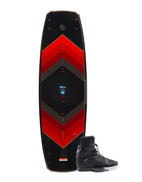 Image of the Ronix Vault wakeboard with District Bindings