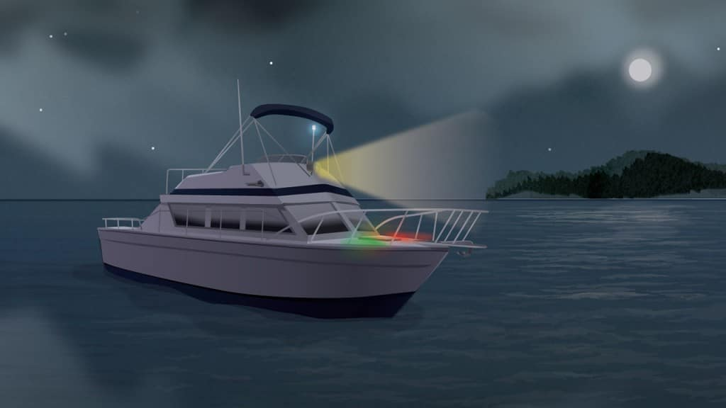 Boating in foggy weather