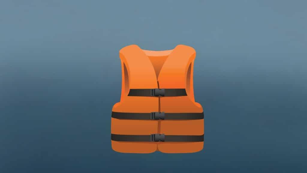 Illustration of an Inherently Buoyant Life jacket