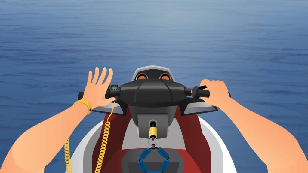 Personal Watercraft handlebar controls